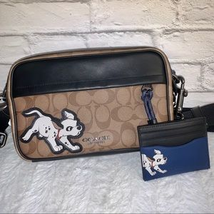 NWT🏷 Disney X Coach Crossbody/Card Case Dalmatian